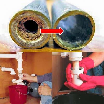 Как прочистить водопроводные трубы?